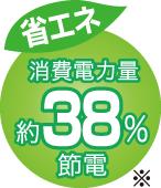 省エネ38%