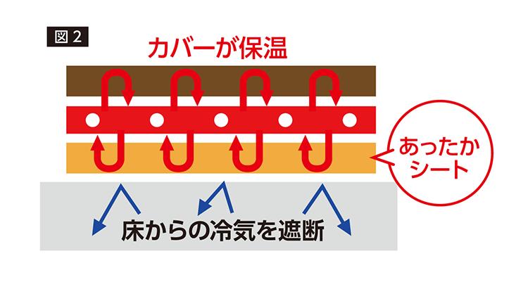 図2カーペット断面図イラスト